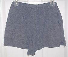 Adrienne Vittadini Women's Knit Elastic Waist Heather Navy Shorts Sz S- Runs Big
