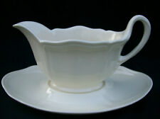 Wedgwood Queens Shape Plain Gravy Bowl with Underplate