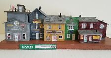 "Craftsman built HO Scale ""Merchant's Row"" Diorama.Custom built, all wood."