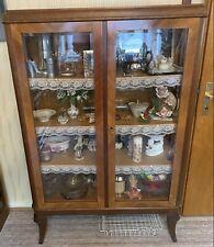 Vitrinenschrank Vintage Eichefurnier