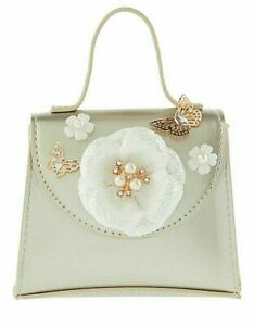 GIRLS-SPECIAL OCCASSION HAND BAG-FASHION BAG-BRIDESMAID-BUTTERFLY GOLD-MONSOON