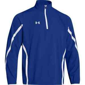 NEW Under Armour Men's Essential 1/4 Zip Jacket Royal Blue White Size Small
