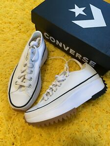 Converse Run Star Hike Low OX White Gum Size 4.5 Men 6 Women Shoes 168817C NIB