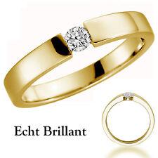 IExcelente 375/- 9 quilates real oro anillo de compromiso solicitud anillo Anillo de mujer