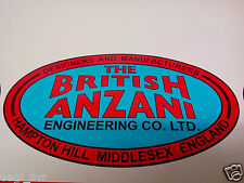 British Anzani Iron Horse garden tractor bonnet decal caravan trailer sticker