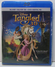 Disney's Tangled 3D and 2D Blu-ray / DVD 3-disc set NEW! No digital copy