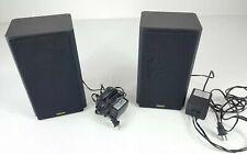 Pair of Hitachi WS 25 Powered Wireless Speakers WS25