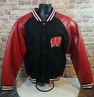 Vintage Wisconsin Badgers NCAA Varsity Letterman Snap Jacket M Bucky Madison