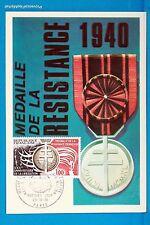 MEDAILLE DE LA RESISTANCE   Carte Postale Maximum FDC Yt C 1821
