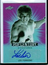 "2018 LEAF POP CENTURY LOU FERRIGNO ""HULK/KING OF QUEENS"" PINK/20 AUTOGRAPH AUTO"
