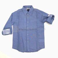 Camicia Azzurra in Tinta Unita Bambino Sarbanda G321
