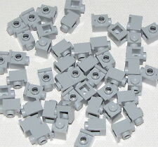 LEGO LOT OF 50 LIGHT BLUISH GREY 1 X 1 MODIFIED HEADLIGHTS BRICKS PIECES