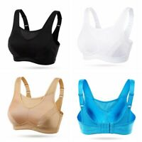 Womens Sports Bra High Impact Wirefree Non Padded Full Coverage Workout Top Bra