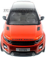 WELLY GT AUTOS 11003 LAND RANGE ROVER EVOQUE 1/18 DIECAST ORANGE with BLACK TOP