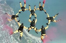 Skydive Formation Jump, Military World Games India, Parachute, Plane - Postcard