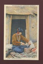 USA ethnic Native American INDIAN Navaho Silversmith c1940/50s? PPC