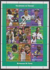 Chad - 2002, Cricket Champions, 475f x 9 sheetlet - MNH