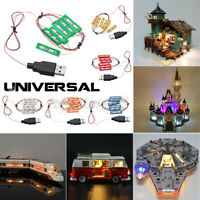 USB Universal DIY LED Light Lighting Kit For Lego MOC Toy Bricks Bar-type Lamp