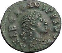 Arcadius 383AD Rare Authentic Ancient Roman Coin Wreath of success  i56121
