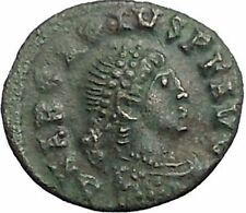 Arcadius 383AD Rare Authentic Ancient Roman Coin Wreath of success  i56121