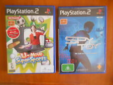 PS2 EYETOY COMPATIBLE GAMES: SPY TOY & U-MOVE SUPER SPORTS VGC - FAST POST