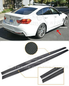 CARBON FIBER Side Skirts Extension For 14-20 BMW F32 F33 F36 4-Series M-Sport