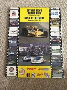 1984 Detroit News Grand Prix At Michigan Cart/Indycar Racing Program