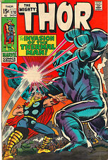 The Mighty Thor #170 - Thermal Man Invades! - (Grade 7.0) 1969