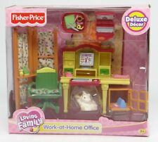 FISHER-PRICE ~ LOVING FAMILY~ WORK-AT-HOME OFFICE~2006 J8220 Retired Playset~NEW