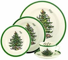 Spode Christmas Tree 8  - 5 Piece Place Settings  (new in box)