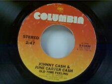 "JOHNNY CASH / JUNE CARTER CASH ""OLD TIME FEELING / FAR SIDE BANKS OF JORDAN"" 45"
