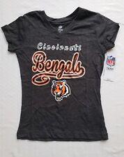 Cincinnati Bengals NFL Team Apparel Youth Girls V-Neck Tee Shirt | Large (10/12)