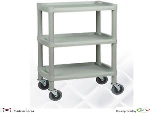 Utility Cart Trolley Organizer Storage 3Shelf Tier Wagon Rolling Salon Spa Y101B