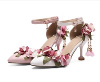 bd6752335613 NEW Women s Floral Pointy Toe Slip On Stiletto High Heels Pumps Shoes Size  Hot