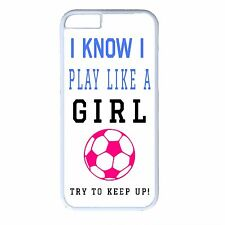 Soccer Girl Futbol White Case Cover Cute Funny Quote iPhone 4s 5 5s 5c 6 6 Plus