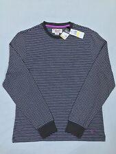 NWT Original Penguin Munsingwear LS TShirt Medium Color Dark Shadow Striped $59