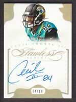 2014 Panini Flawless Football Autograph Gold #10 Cecil Shorts Auto 04/10 Jaguars