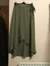 Size 12 Petite Green Wrap Maxi Skirt H&m