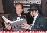 MICHAEL JACKSON 1991 with Dick Clark 1xRARE8x10 PHOTO