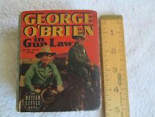 "Big Little Book - ""Gun Law"" (George O'Brien) - 1938  - VGC"