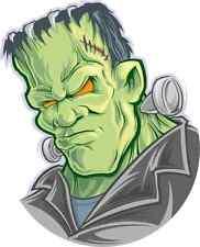 """Frankenstein Monster Car Bumper Sticker Decal 4"""" x 5"""""""