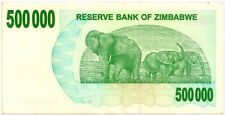 ZIMBABWE 2007 500000 DOLLAR BANK NOTE in a Protective Sleeve