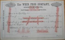 1880 Color Stock Certificate: Weir Frog/Railroad Switch