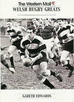 """Gareth Edwards, Wales WESTERN MAIL """"Welsh Rugby Greats Collection"""" Rugby Card"""