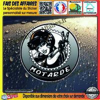 Stickers Autocollant adhésif motarde à bord café racer bobber sportive custom hd