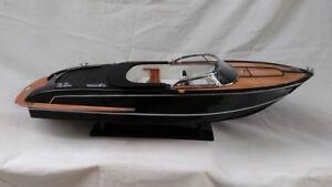 """Riva Iseo 26"""" Quality Wood Model Boat L70 Beautiful Home Decor Handmade Model"""