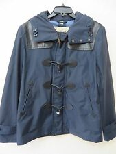 BURBERRY BRIT MEN'S NAVY BLUE HOODED WINDBREAKER RAIN COAT JACKET Size XL