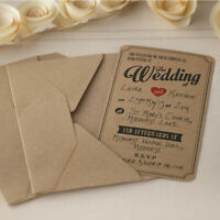 GINGER RAY RUSTIC WEDDING INVITATIONS WITH ENVELOPES PACK OF 10 CARDS BRAND NEW