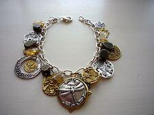 SILPADA Bracelet .925 Silver Brass PERFECT COMPOSITION Cha Cha Charm  B3078 NEW