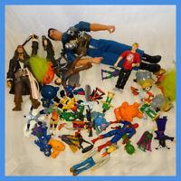 Job Lot Action figures And Toys bundle disney pirates marvel hero ect